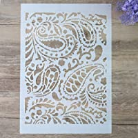 DIY Decorative Paisley Stencil Template for Painting on Walls Furniture Crafts (A2 Size)