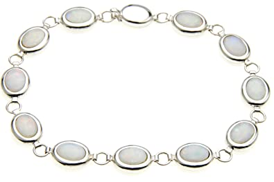 bridal opal infinity bracelet bling jewelry silver gemstone white sterling tennis link jf