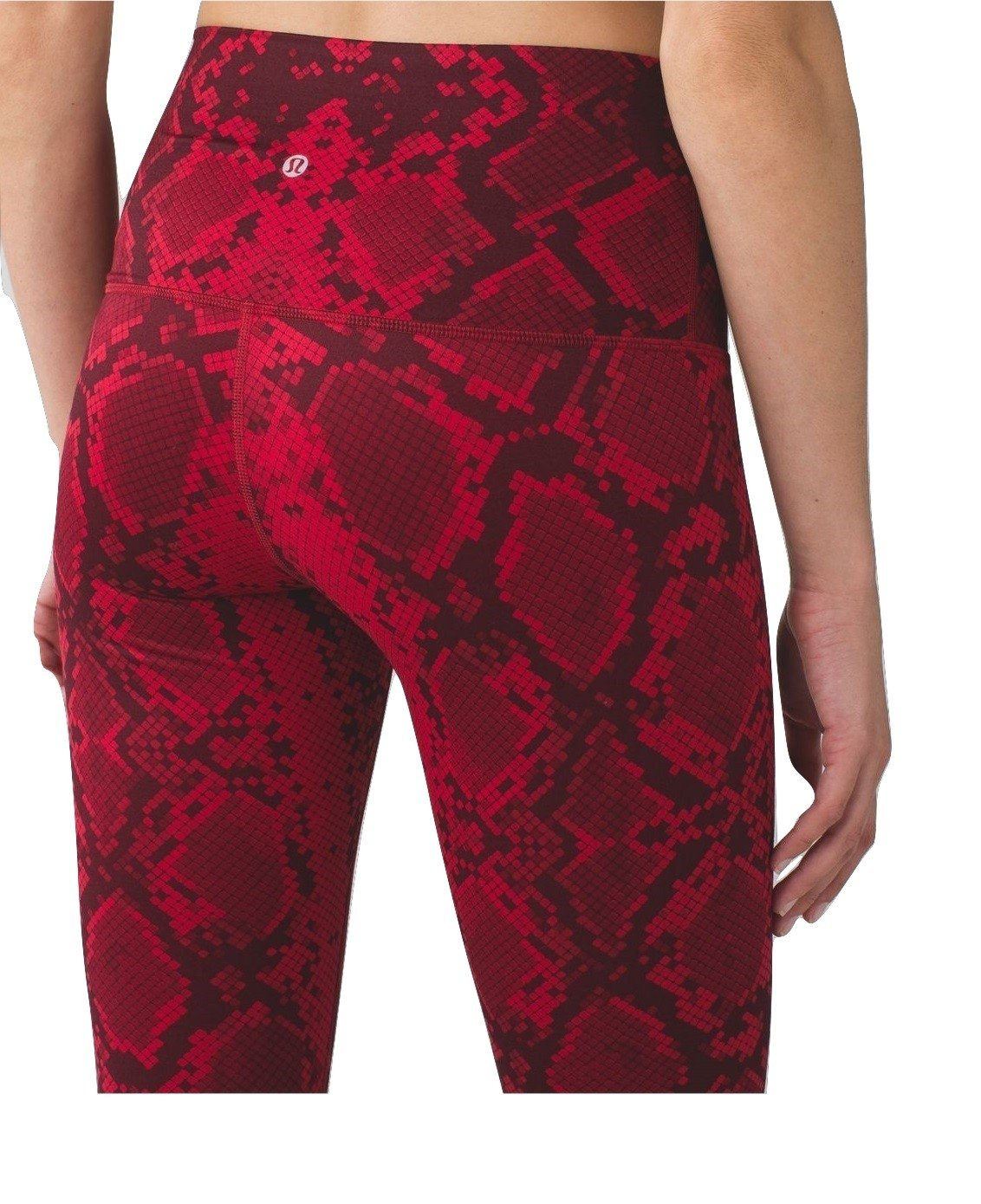 Lululemon High Times Pant Full On Luon 7/8 Yoga Pants (Mini Ziggy Snake Red Tide Cranberry, 8)