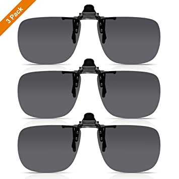 d66a1f19ca Read Optics x3 Pack de Clip-On Sunglasses: Gafas de Sol con Flip-Up para  Gafas Graduadas ...