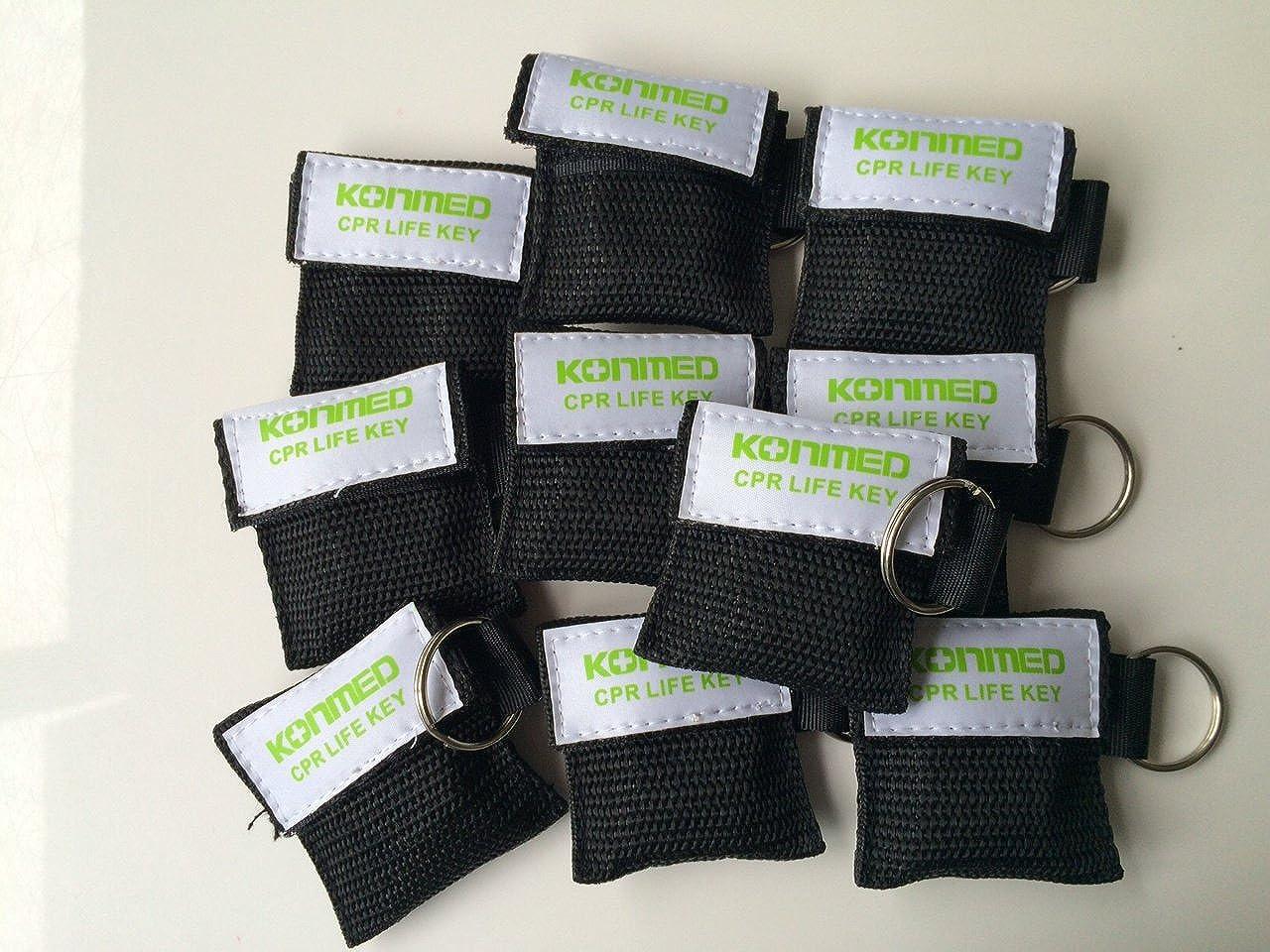 CPR máscara llavero unidades 10 libre delively: Amazon.es ...