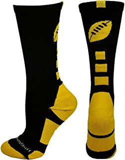 product image for MadSportsStuff Football Logo Athletic Crew Socks (Multiple Colors)