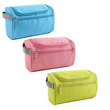 Amazon.com   Toiletry Bag 3 Pack Travel Toiletries Bag Sturdy Hanging  Organizer for Women Men Cosmetic Make up Bag Case (Set 1)   Beauty b797335e15b43