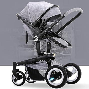 HJHY Cochecito de bebé, Carrito de niño de bebé Carrito de bebé de alto paisaje