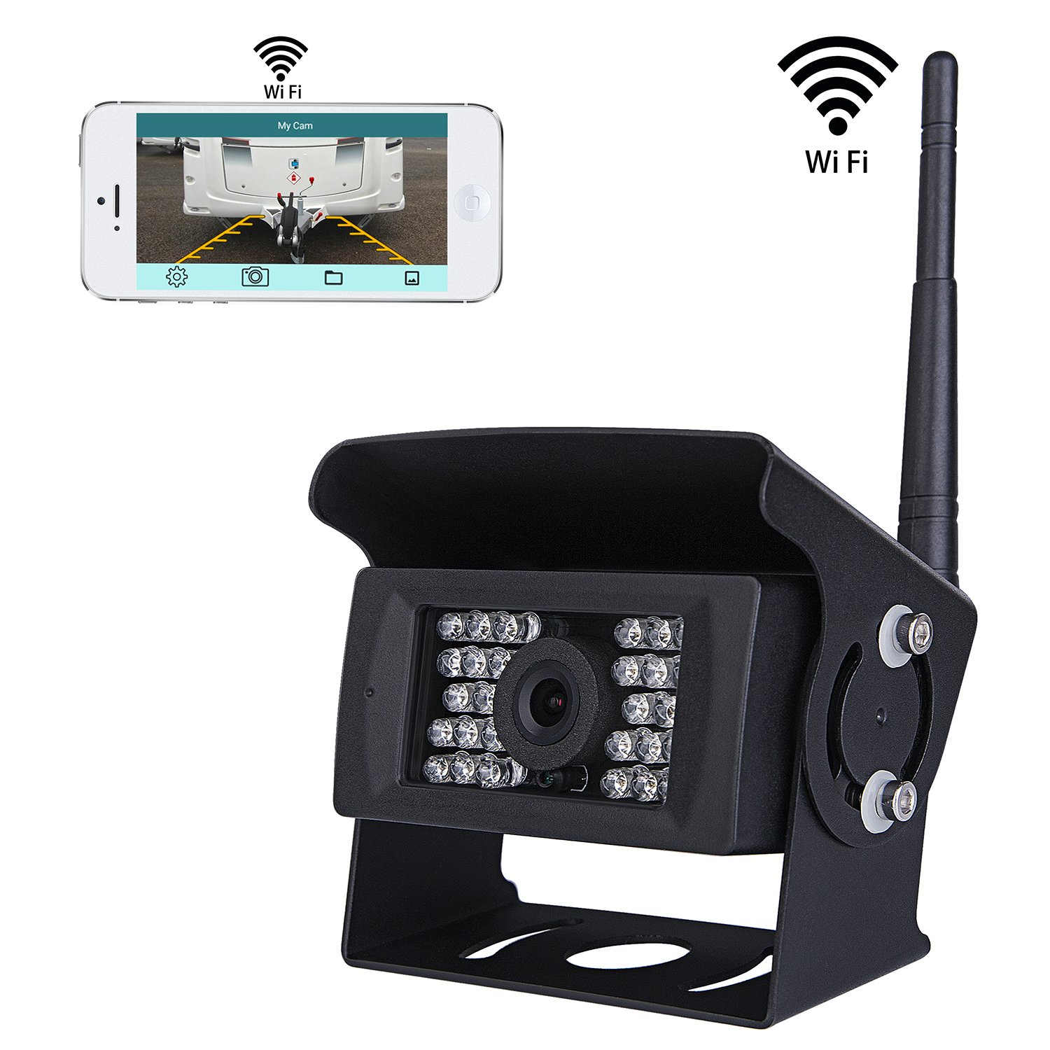 SVTCAM SV-928WF Wireless Backup Camera for Truck,RV,Camper,Trailer. WiFi Backup Camera Work with iphone , ipad or Andriod Devices