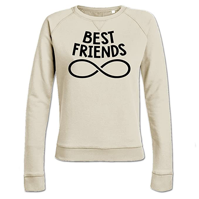 Sudadera de mujer Best Friends Forever Never Ending by Shirtcity: Amazon.es: Ropa y accesorios