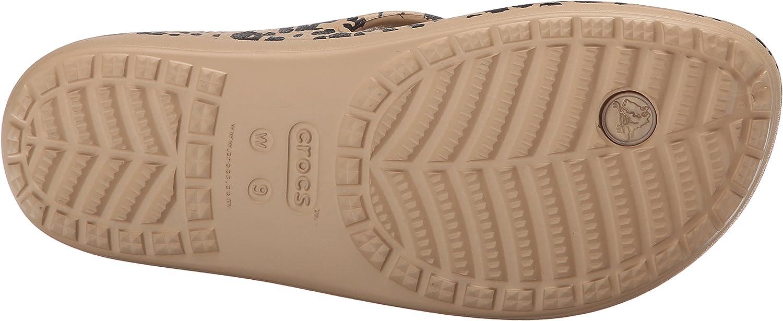 Crocs Womens Sloane Leopard Flip W