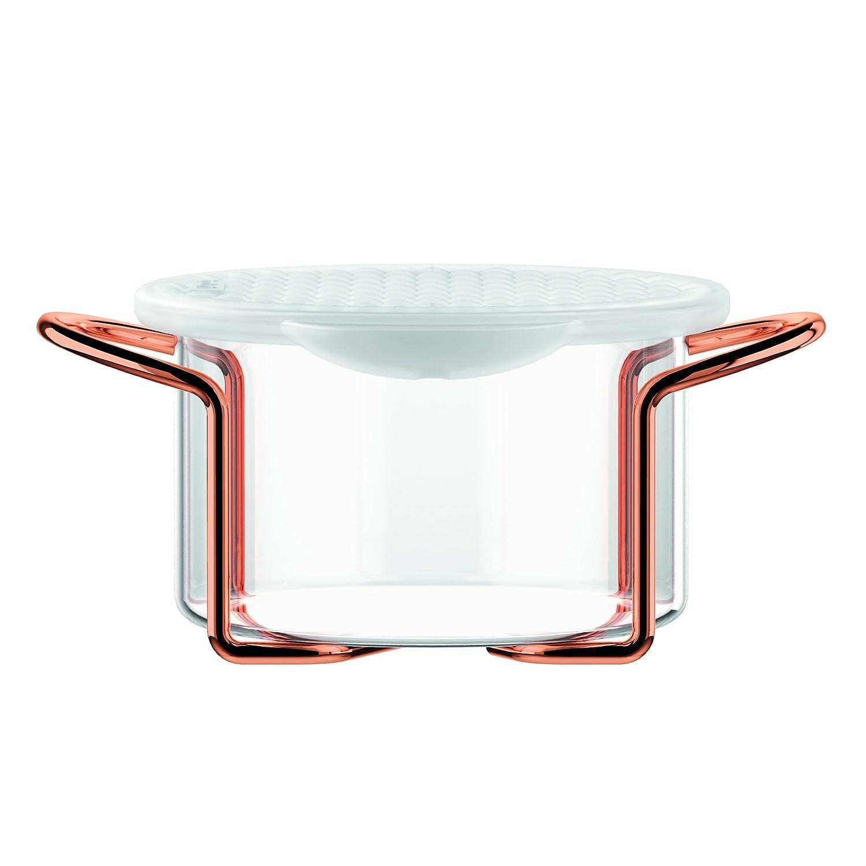 Bodum Hot Pot Bakeware Dish with Silicone Lid & Copper Stand, 0.25 L/8 oz/Small, Copper K11710-18