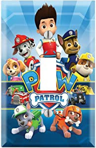 Single Toggle Wall Switch Cover Plate Décor Wallplate - Paw Patrol Ryder Marshall Chase Zuma Skye