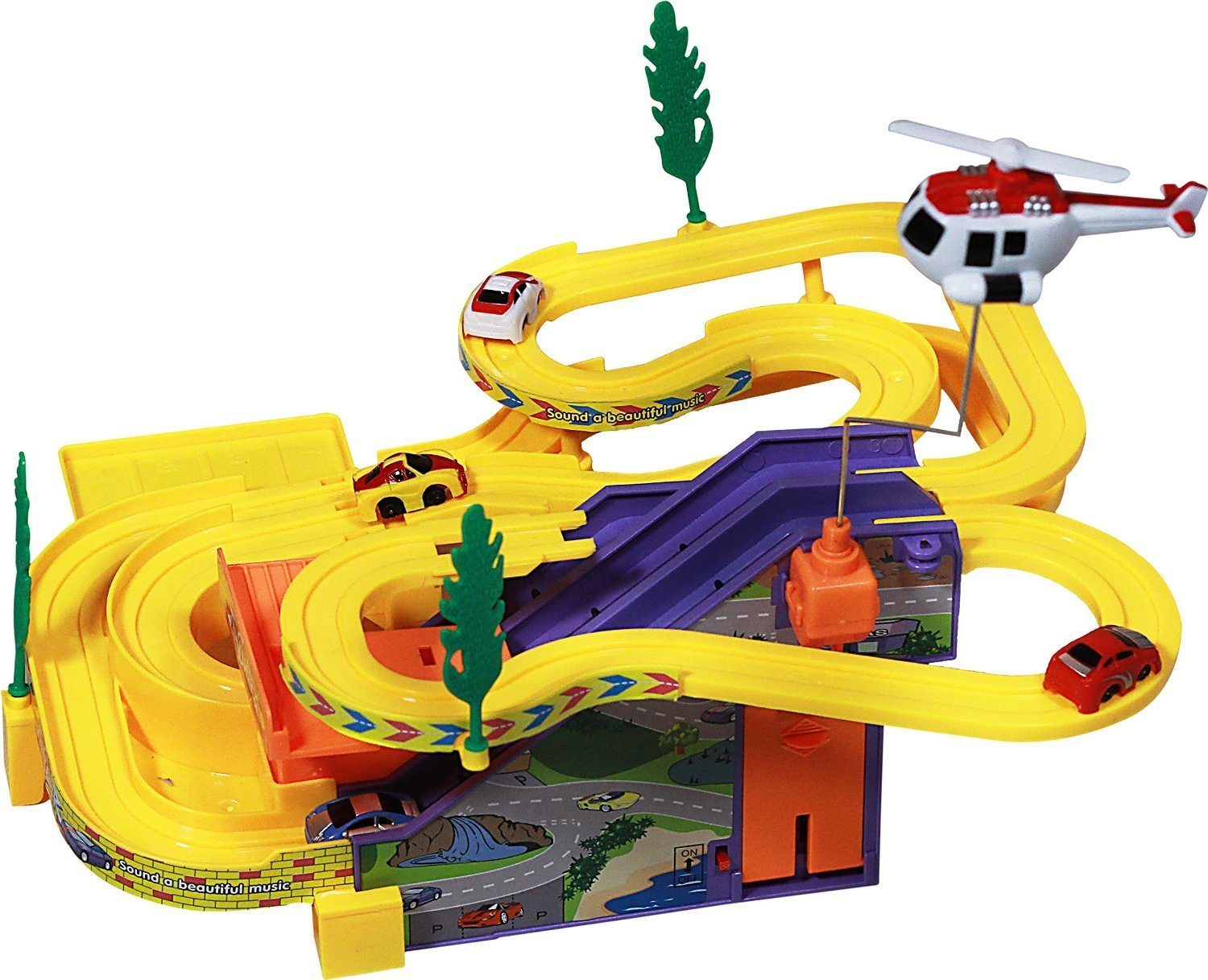 Toy Car Track : Track racer toy with sound and beautiful music cosmecol