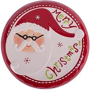 DII Winter Season Dishware Holiday Baking, 11.2x4.5, Merry Santa