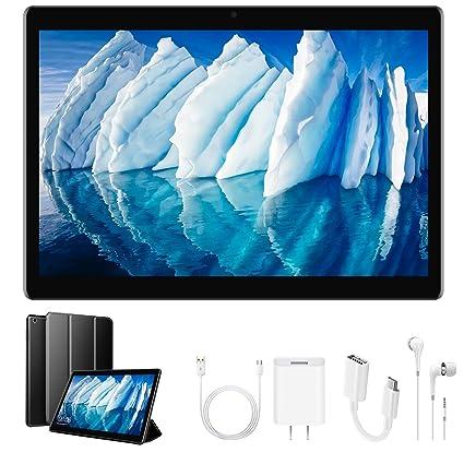 Tablet 10 Pulgadas,4G Dual SIM 32GB de Memoria 2GB de RAM Batería de 8500mAh Cámara de 8MP Android 7.1 OTG/WiFi Tablets Funda (Negro)