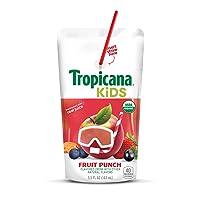Amazon.com deals on Tropicana Kids Organic Juice Drink Pouch Fruit Punch 32 Count
