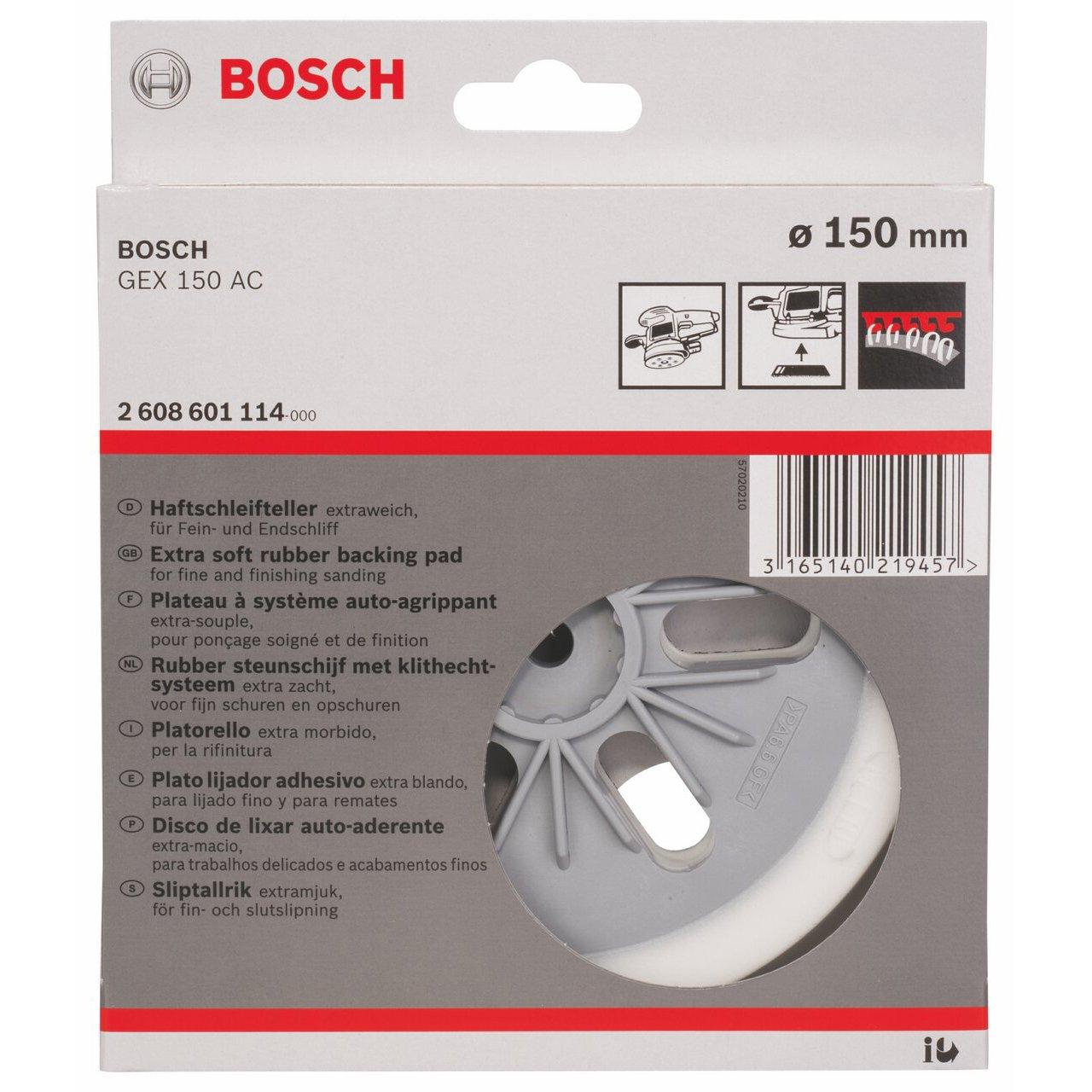 Bosch 2 608 601 114 - Plato de lija - extraweich, 150 mm (pack de 1): Amazon.es: Bricolaje y herramientas