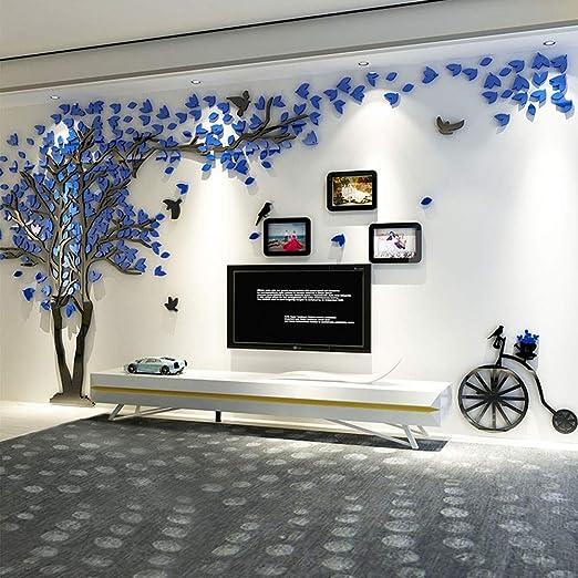 Asvert 3d Wandaufkleber Stereo Wandtattoo Abnehmbare Wohnzimmer Schlafzimmer Kinderzimmer Sofa Mobel Hintergrund Sticker Blau Amazon De Baumarkt