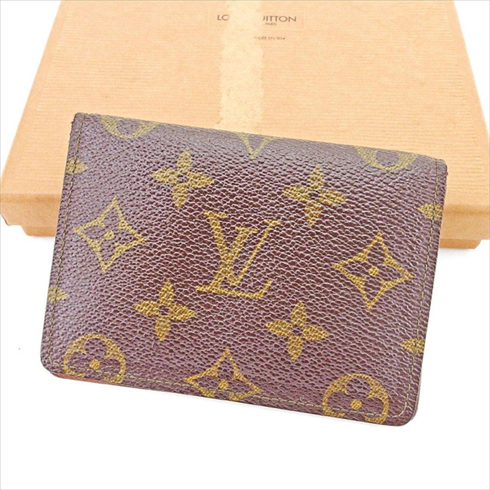 (ルイ ヴィトン) Louis Vuitton 定期入れ パスケース ブラウン ポルト2カルトヴェルティカル モノグラム メンズ可 中古 T2924   B0772Q5Z5H