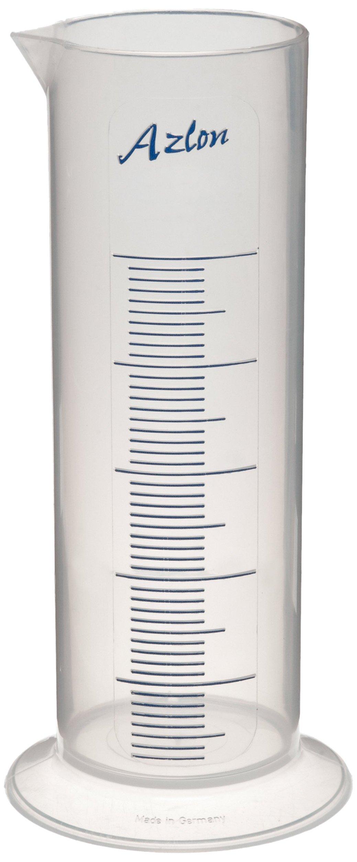 Azlon 537835-4000 Polypropylene Short Form Polypropylene Graduated Cylinder / Pharmaceutical with Printed Graduations, 4L Capacity