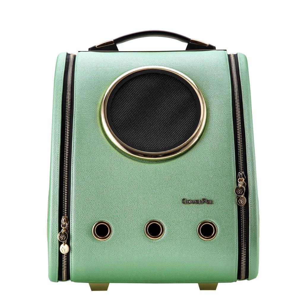 CLOVERPET Astronaut Bubble Travel Cat Dog Puppy Pet Carrier Shoulder Bag,Brown