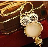 Owl Jewelry Beautiful Crystal Vintage Owl Pendants Necklace Owl Jewelry