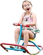 SLIDEWHIZZER Kids Rocking Chair Seesaw Rider: Safe Home Playground Backyard Equipment,