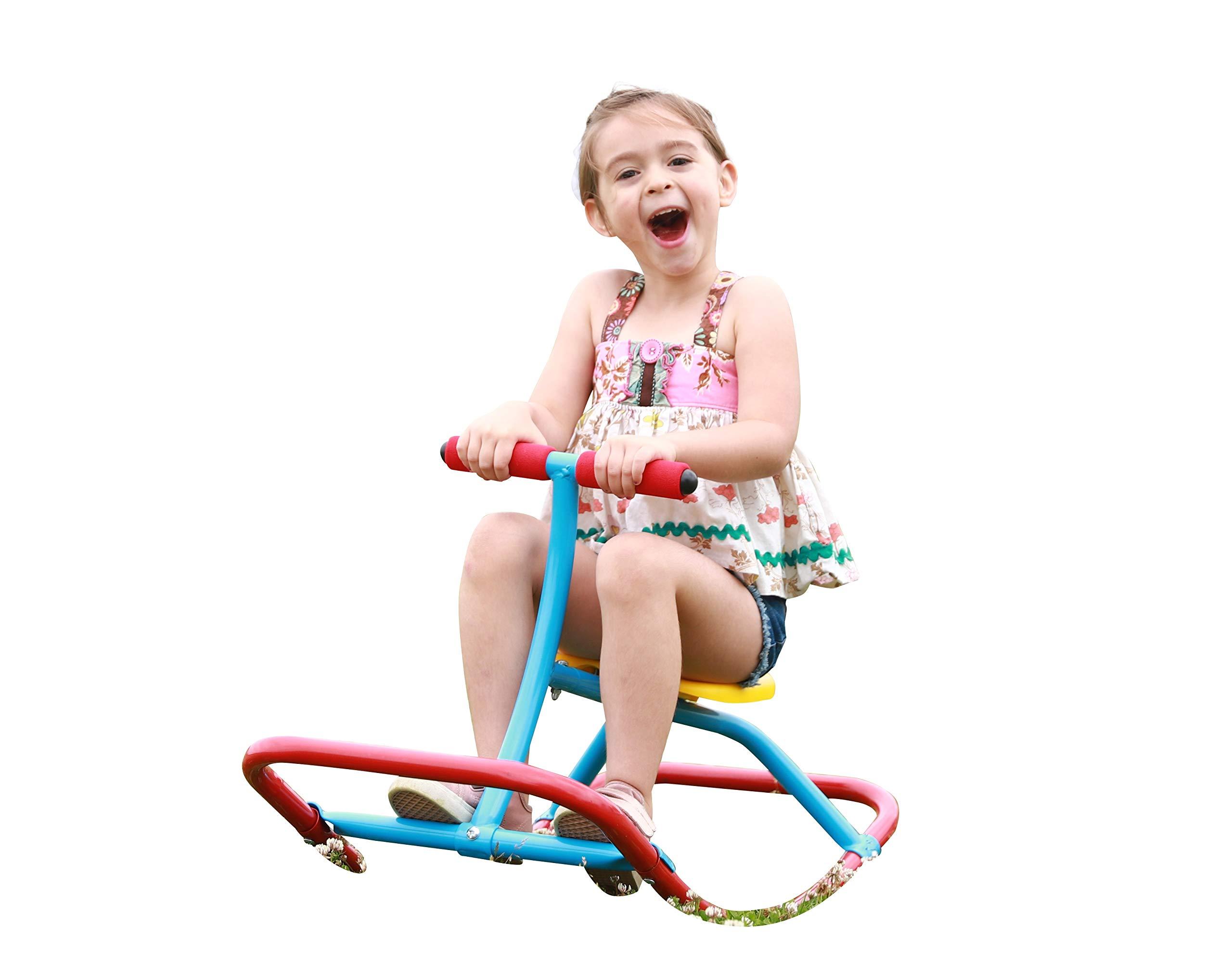 SLIDEWHIZZER Kids Rocking Chair Seesaw Rider: Safe Home Playground Backyard Equipment, Rocker Single Teeter Totter for Youth Junior Kids. (Kid First Seesaw) by SLIDEWHIZZER