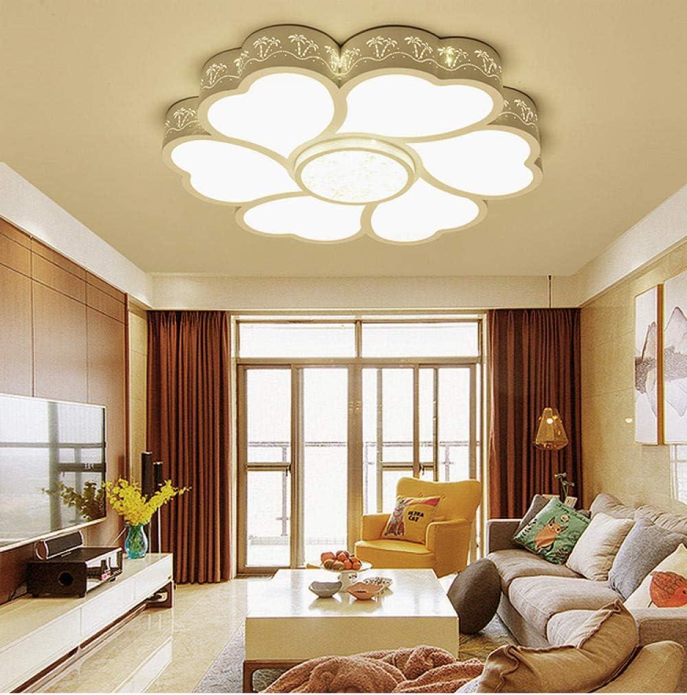 Lámpara techo LED moderna flor 50 cm, lámpara techo comedor sala estar 24 W, lámpara dormitorio árbol coco personalidad cálida y ahorro energía, luz blanca 50 cm