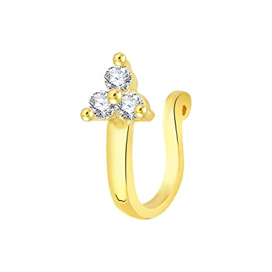 9deb8137e V. K. Jewels Nose Pin Collection Nose Pin for Women (Golden)(vknr1032g)