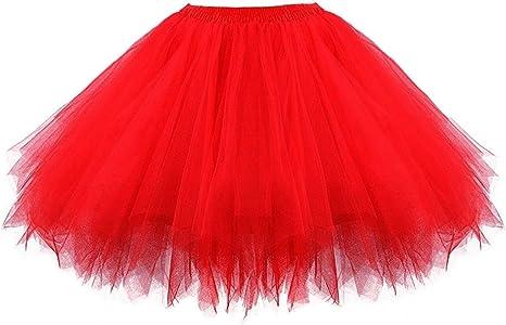 Aysimple - Falda corta de tul, tutú, falda de tul, minifalda ...