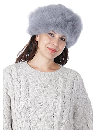 a0799a972ad3d Alpaca Fur Hat - Russian Cossack style (Platinum) at Amazon Women s  Clothing store