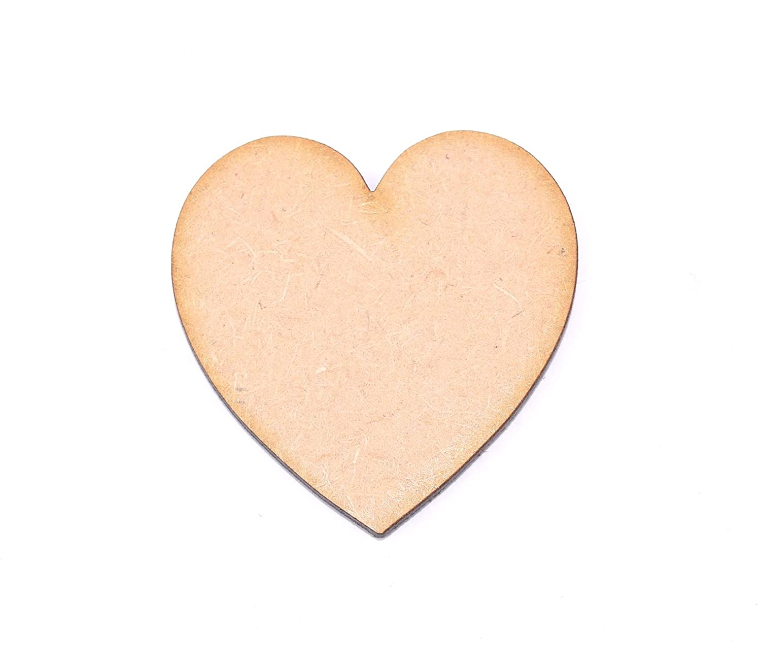 Pack of 10 MDF 40mm Hearts by WWS - Arts & Crafts, Scrapbooks, Decorations