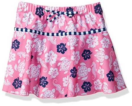 dff2fed820 Flap Happy Little Girls' UPF 50+ Swim Skirt with Built in Bikini Brief,
