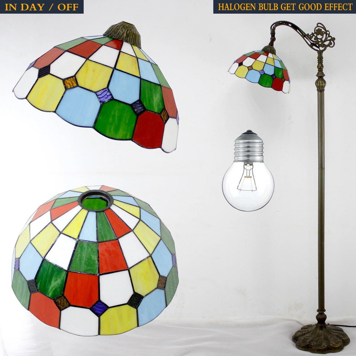 Tiffany Style Reading Floor Lamp Table Desk Lighting Tartan Design W12H64 E26 by werfactory (Image #5)