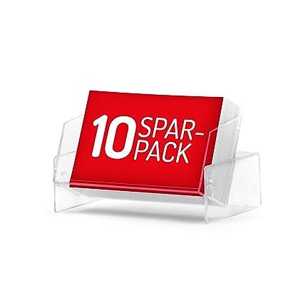 10x Visitenkartenboxen Glasklar Transparent Im Günstigen