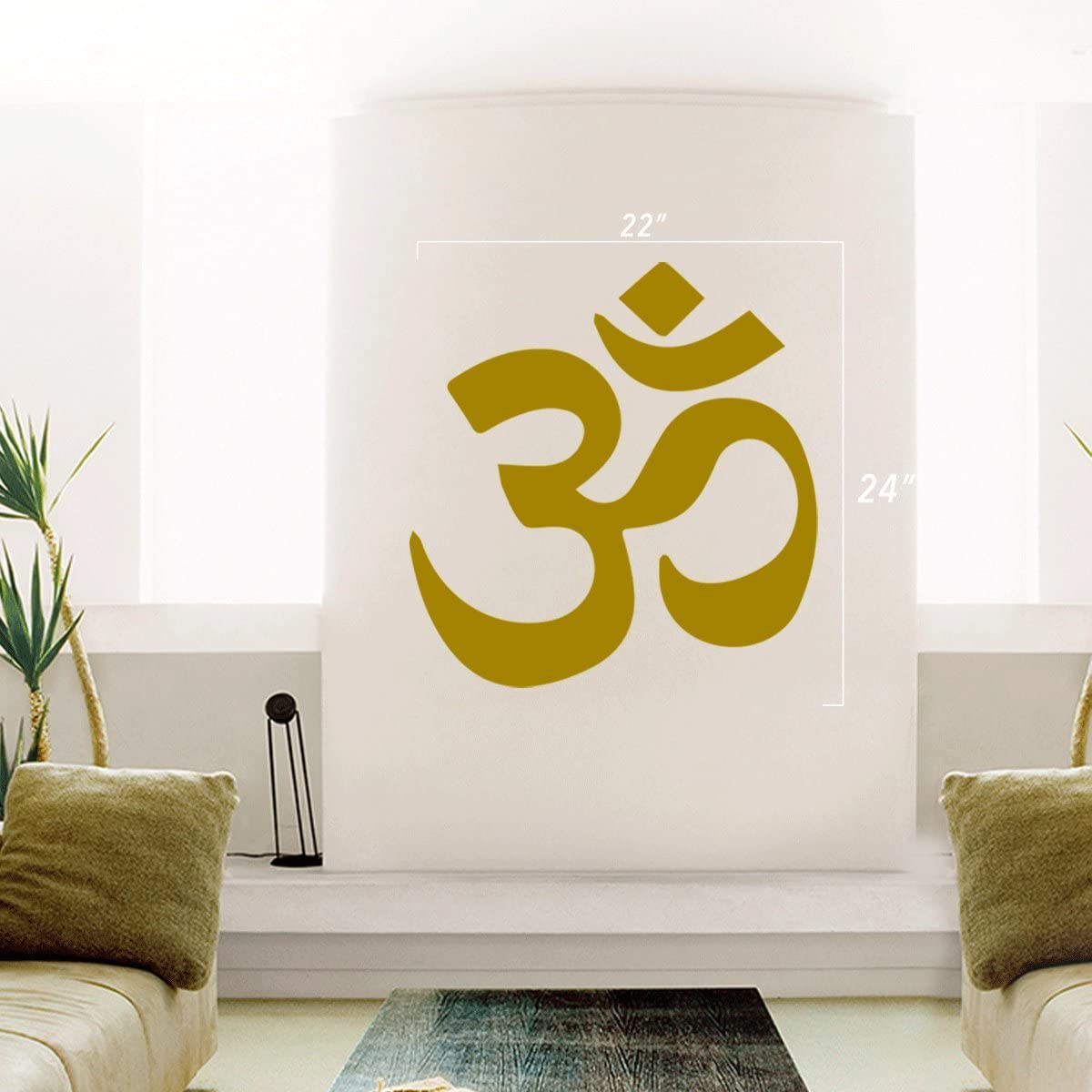 Doors Red StickAny Car and Auto Decal Series Om Zen Logo Sticker for Windows Hoods