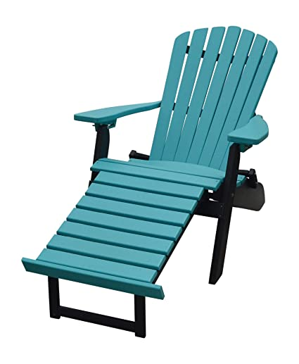 Plastic Adirondack Chairs With Ottoman.Amazon Com A L Furniture Co Folding Reclining Recycled