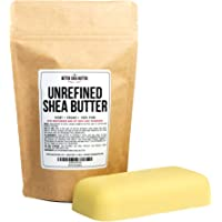 Unrefined African Shea Butter - Ivory, 100% Pure & Raw - Moisturizing and Rich Body Butter for Dry Skin - Suitable for All Skin Types - Use Alone or in DIY Whipped Body Butters - 8 oz Bar