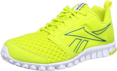 Reebok Realflex Scream 2.0 - Zapatillas de Correr de Material sintético Hombre, Color Amarillo, Talla 44.5: Amazon.es: Zapatos y complementos