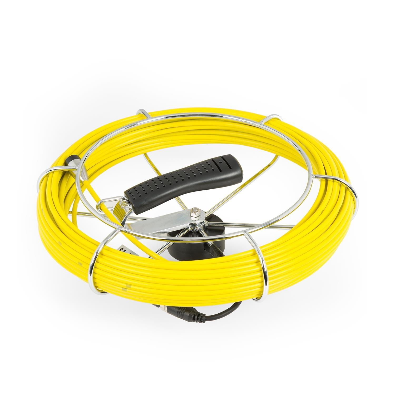 Accessorio in Fibra Ottica Rivestita Bobina con Asta in Metallo e Impugnatura DURAMAXX Inspex Cable Cavo sostitutivo 20 Metri per Telecamera di Ispezione Compatibile con Inspex 2000