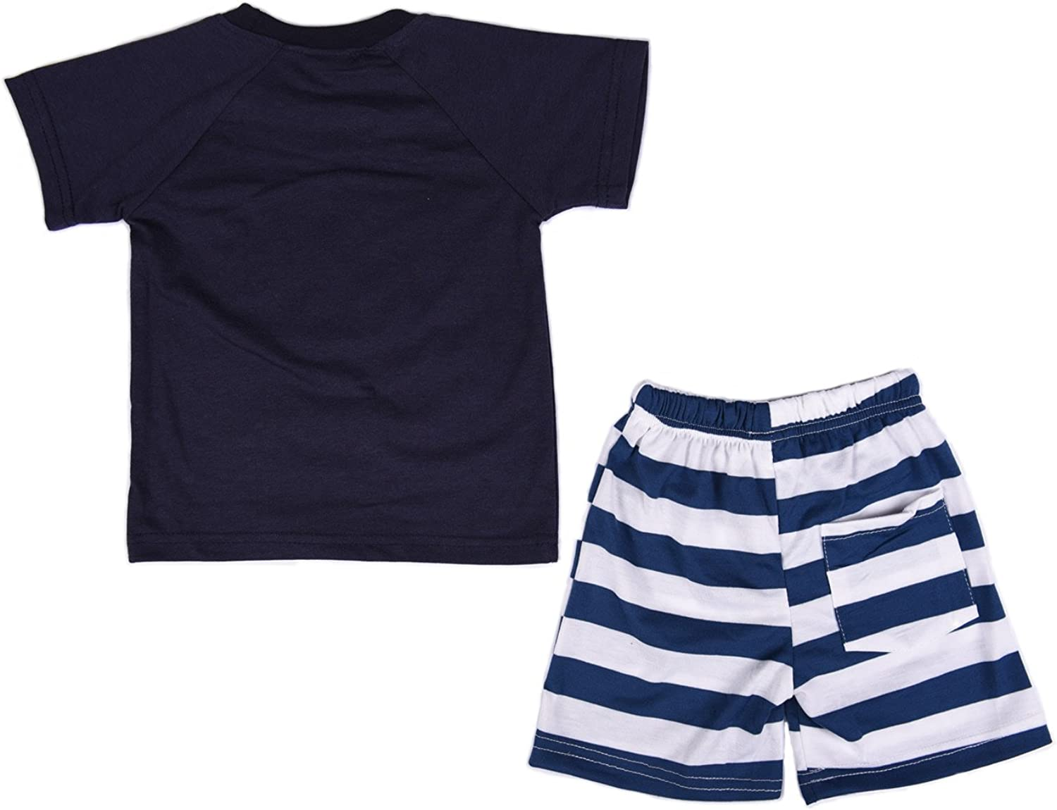 Kids Boys 2 Piece Short Sleeve Tshirt and Shorts Set Outfits for 1 to 5 Age Baby