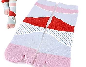 Longford Store UK Tabi Calcetines japonés Split 2 par Toe Ninja Geta Flip Flop Sandal Tobillo Calcetines Altos Rosa/Rojo para Hombres/Mujeres: Amazon.es: ...