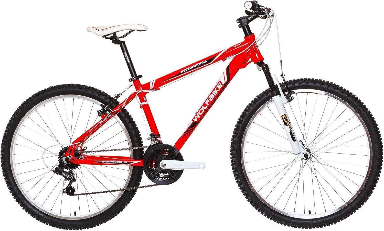 WOLFBIKE EVH 21V H TX-300 Rojo T18 Bicicleta, Adultos Unisex, 18 ...