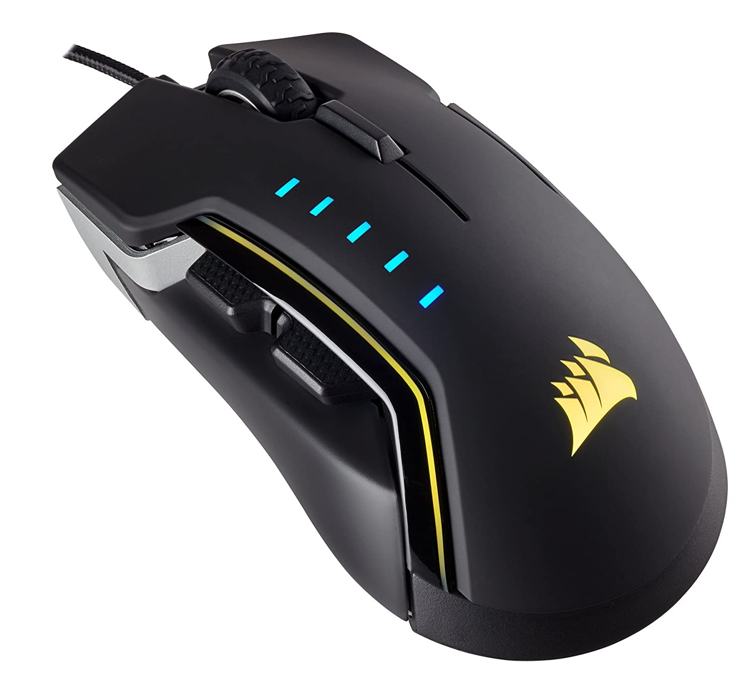 Amazon CORSAIR Glaive RGB Gaming Mouse fortable & Ergonomic Interchangeable Grips DPI Optical Sensor Aluminum puters &