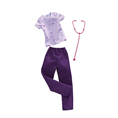 Barbie Clothes: Career Outfit for Barbie Doll, Nurse Scrubs with Stethoscope, Gift for 3 to 8 Year Olds: Toys & Games