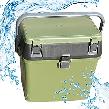 abc760e8154f Fishing Tackle Box Storage Green Plastic, Multifunction for Fishing ...