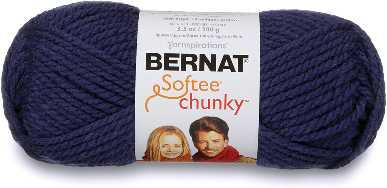 Bernat Softee Chunky Yarn, 3.5 Oz, Gauge 6 Super Bulky, Faded Denim