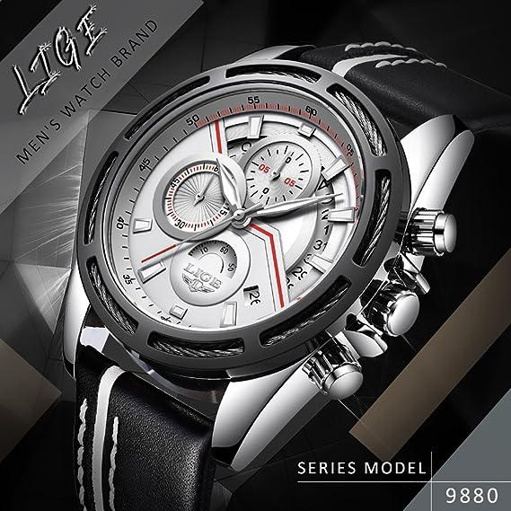 Amazon.com: Relojes Hombre 2018 LIGE Mens Watches Top Brand Luxury Man Sport Watch Male Fashion Business Clock Men Leather Quartz WristWatch 80: Cell Phones ...