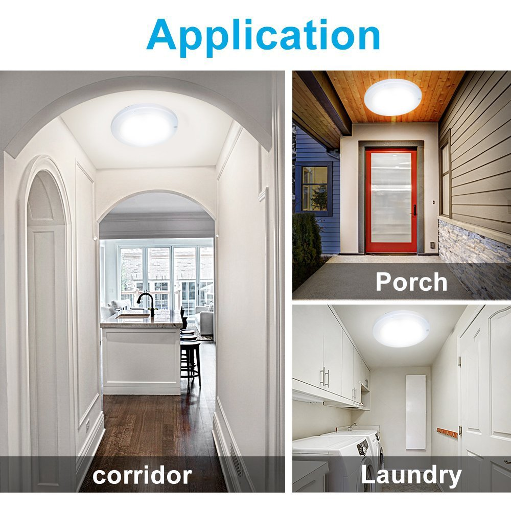 Led Panel Light Pir Motion Sensor Body Detector Ceiling 15w 1200lm Wall Occupancy Wiring Diagram Free Picture 4000k 866 Inch Surface Mounted Lights Round Flush Mount For Stairs Depot Bathroom