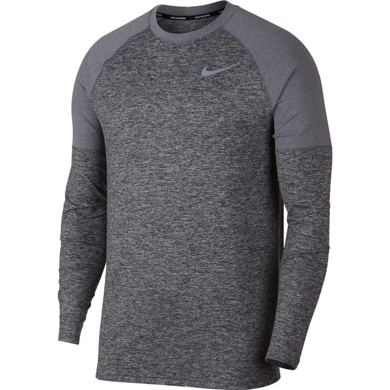 Dark gris Htr L Nike M NK Elmnt Crew T- T-Shirt à Manches Longues Homme