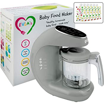 EVLA's Baby Food Maker BFMBLUE01 Food Steamer