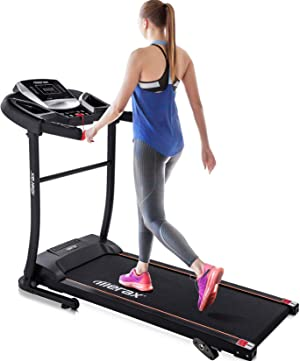 Merax Foldable Electric Treadmill Motorized Running Machine Folding Easy Assembly Walking Jogging for Office Home Gym Workout